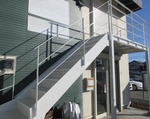 店舗 階段塗装工事