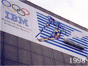 1998年12月、長野冬季五輪スポンサーの